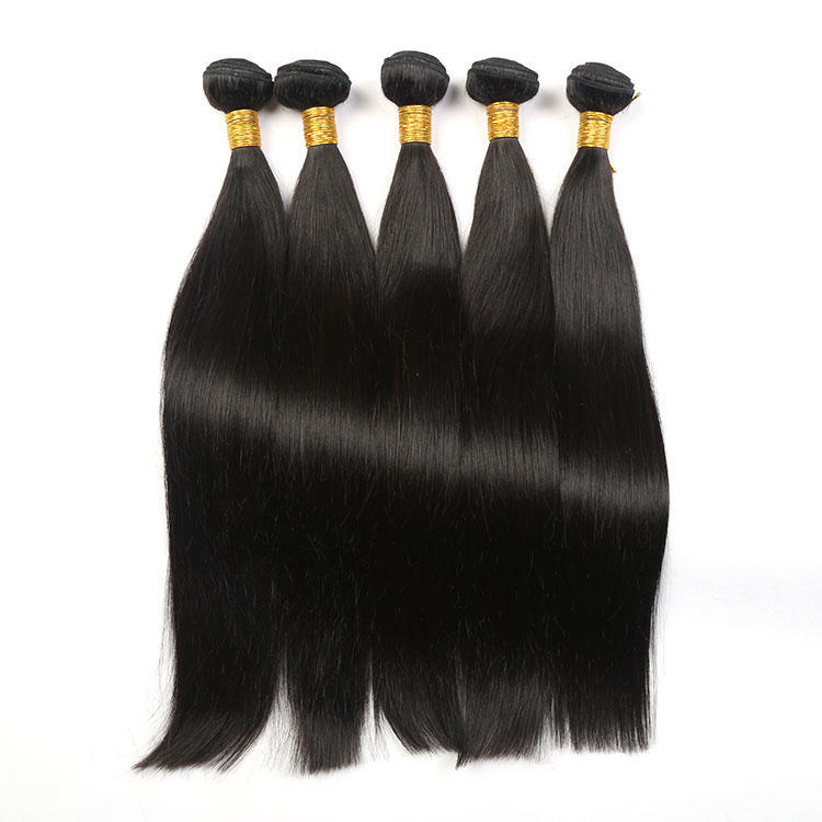 Silky Smooth Human Hair Straight Hair Bundles Weaving