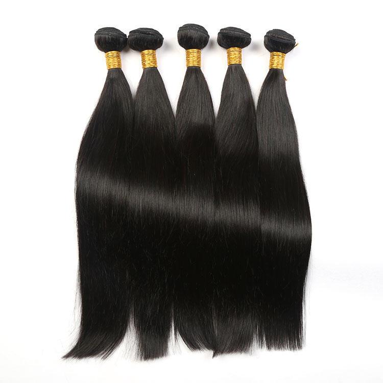 Silky Smooth Human Hair Straight Hair Bundles Weaving