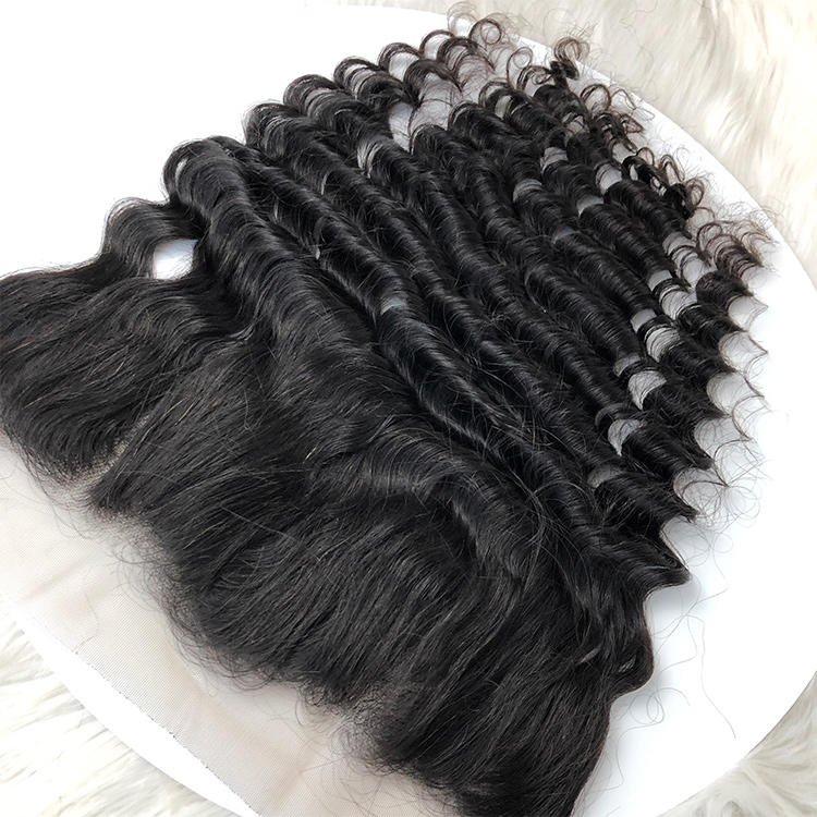 Top Quality Human Hair Deep Wave Hair Lace Frontal
