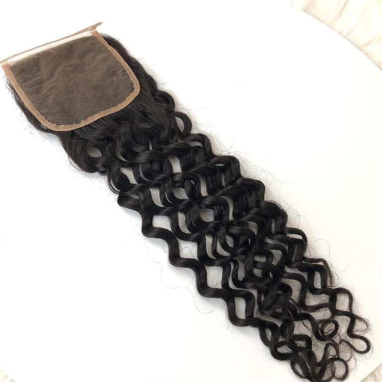 Black Women Style Indian Hair Human Hair Deep Curly Lace Closure