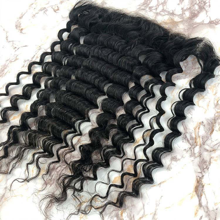 10A Virgin Hair Deep Wave HD Lace Frontal