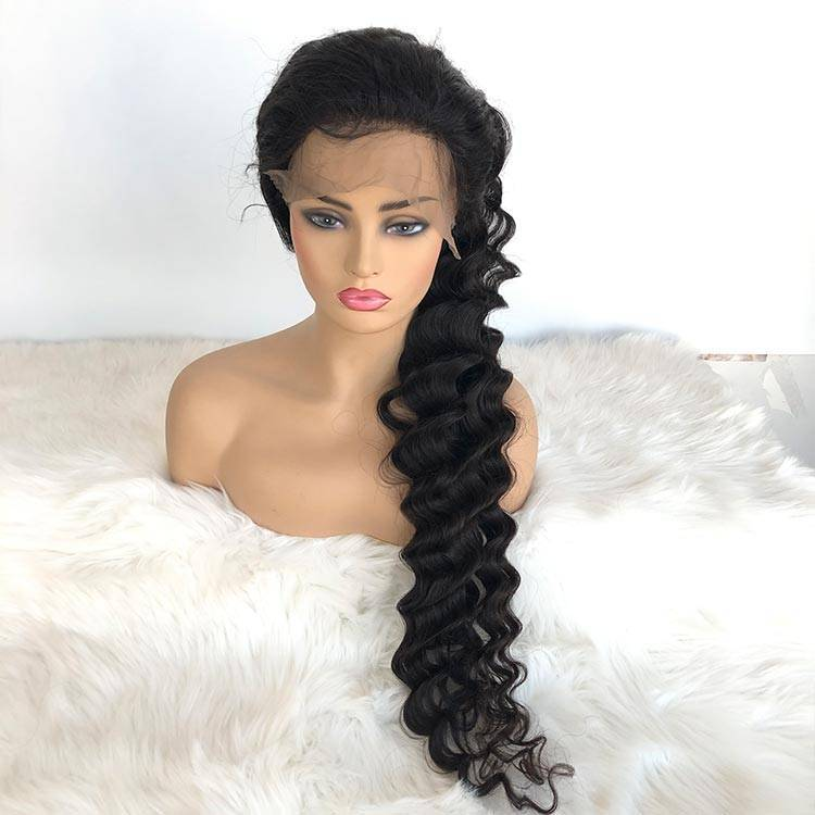 Raw Hair 40inch Hair Deep Wave Full Lace Wig