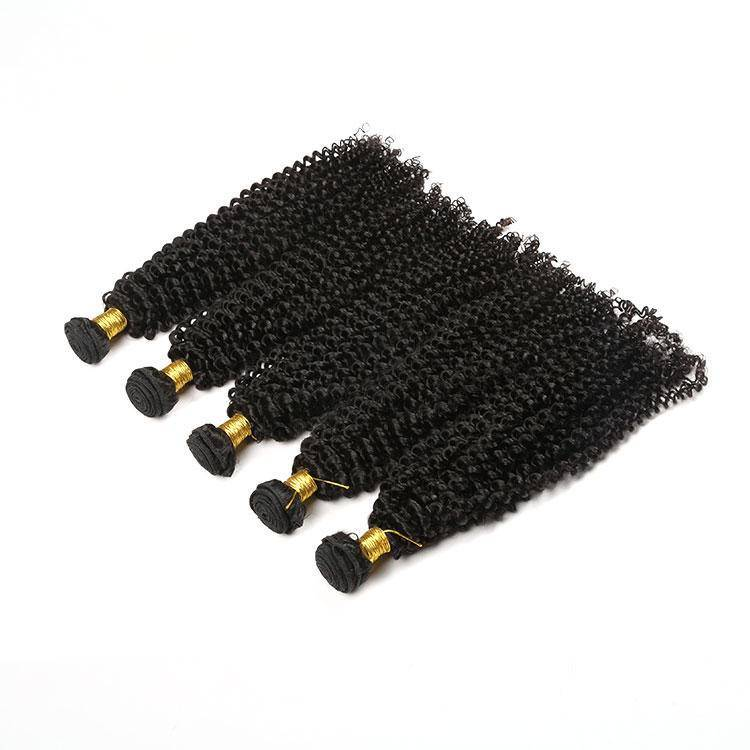 Human Hair Kinky Tight Curly Hair Bundles Weaving