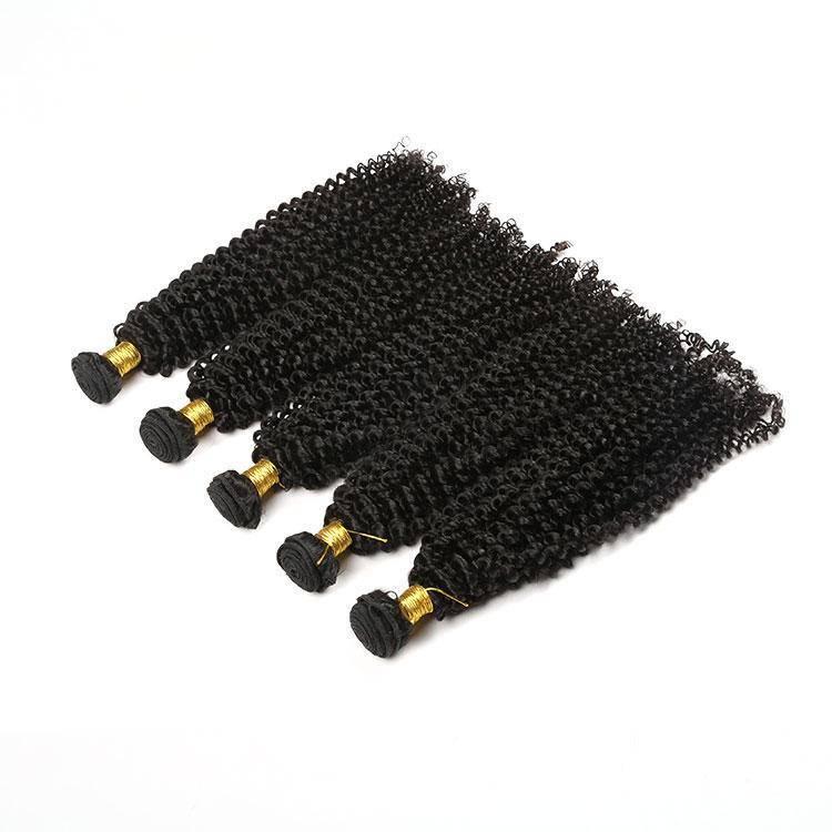 Human Hair Kinky Tight Curly Hair Bundles Weaving