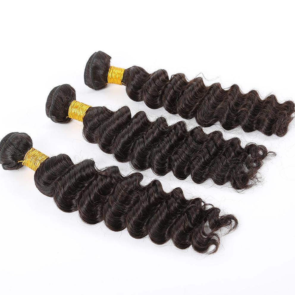 10A Virgin Hair Deep Wave Hair Weaving