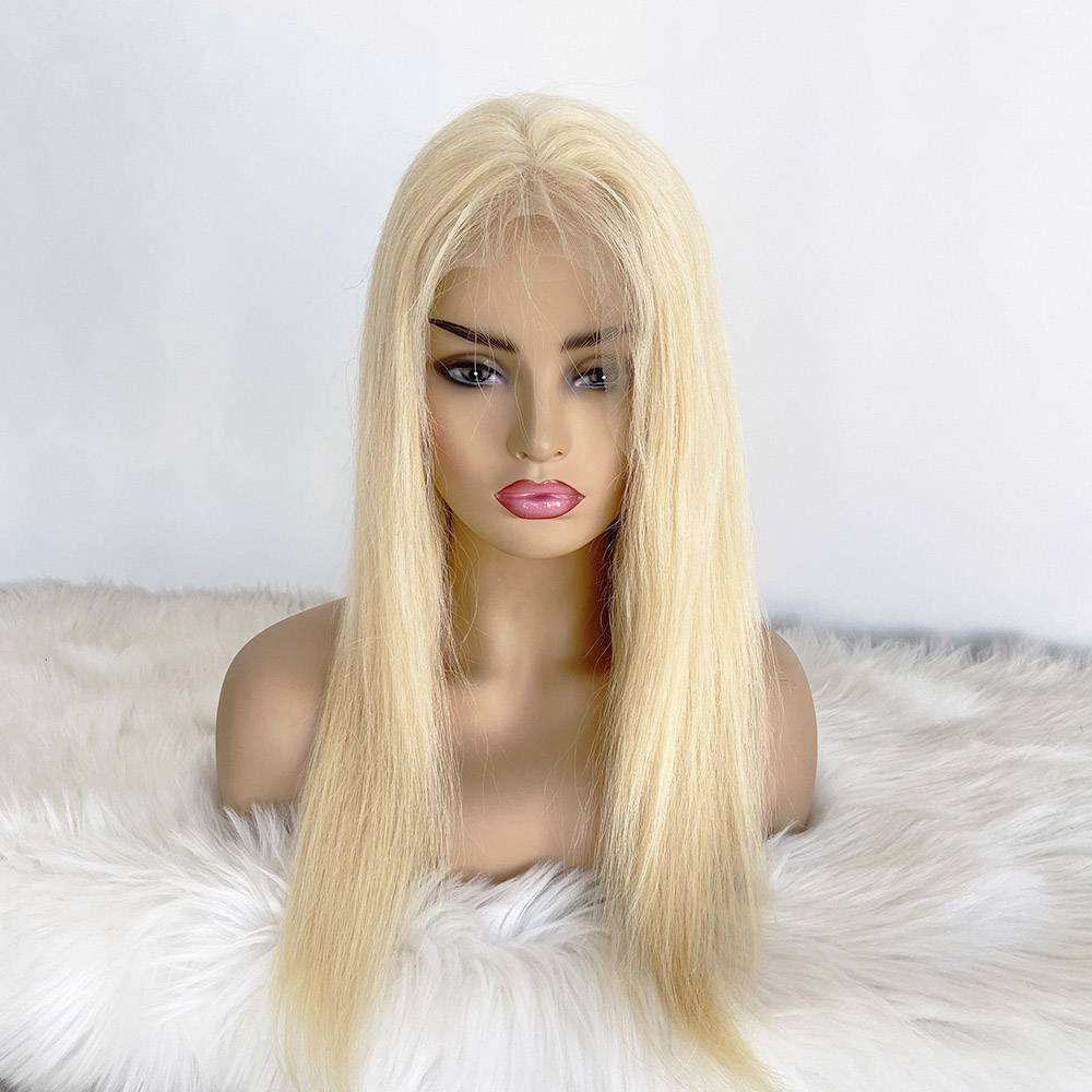 13x6 High Density Blonde Lace Frontal Installed Wig