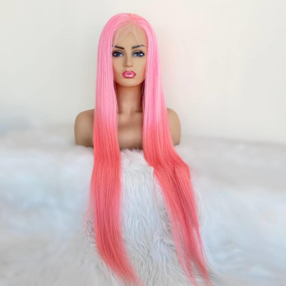 30inch Dream Pink Full Lace Wig